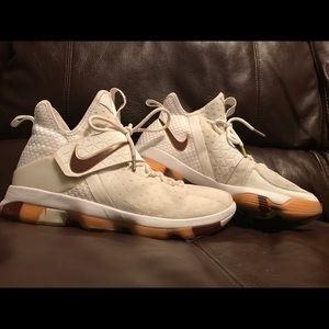 Men's LeBron White Wine Nikes